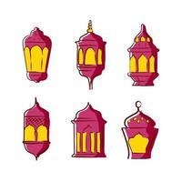 coleção de lanternas ramadan kareem vetor