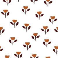 Escandinavo primavera flor vetor crianças sem costura fundo padrão para chá de bebê, design têxtil. textura simples para papel de parede nórdico, preenchimentos, fundo de página da web