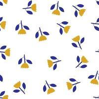 Escandinavo primavera flor vetor crianças sem costura fundo padrão para chá de bebê, design têxtil de verão. textura simples para papel de parede nórdico, preenchimentos, fundo de página da web
