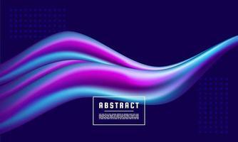 onda brilhante de néon, energia mágica e fundo de movimento de luz, fluxo de cores vetor