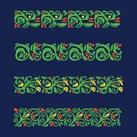 Conjunto de elementos de florescer Vintage barroco vetor