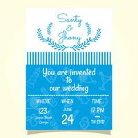Convite do casamento de praia