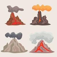Vetor de montanha do vulcão