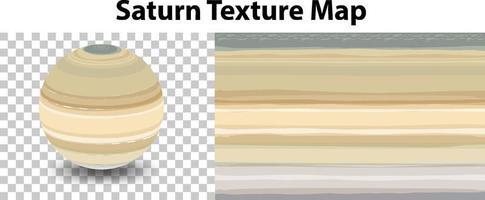 planeta saturno com mapa de textura saturno vetor
