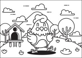 Vetor de animais de livro para colorir
