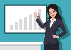 Ilustração em vetor de mulher de negócios