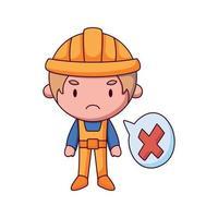 construtor cartoon doodle desenhado à mão conceito vetor ilustração kawaii