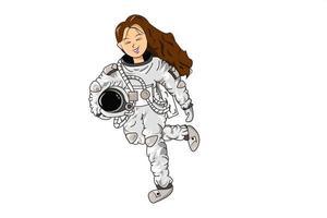 desenho personagem astronauta ilustração vetor
