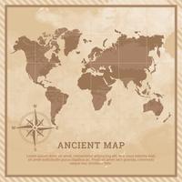 Ilustração antiga do mapa vetor