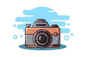 ilustração da câmera desenho a mão vetor