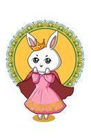 a ilustração da rainha dos coelhos vetor