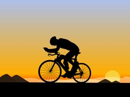 Excelente montando uma bicicleta Vetores