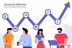 gráfico de comportamento do consumidor vetor