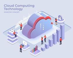 tecnologia de computação em nuvem vetor