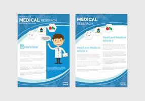 Modelo de Brochura - saúde e bem-estar vetor