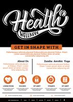Folheto de saúde e bem-estar vetor