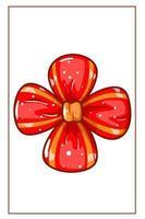 ilustração de fita vermelha para o dia de natal vetor