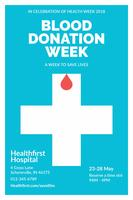 Folheto de Doação de Sangue Limpo e Minimalista vetor
