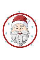 um papai noel feliz com ilustração de chapéu de natal