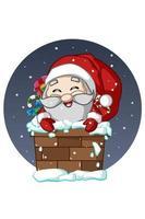 o papai noel na chaminé trouxe presentes de natal
