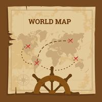 Vetor antigo mapa mundo