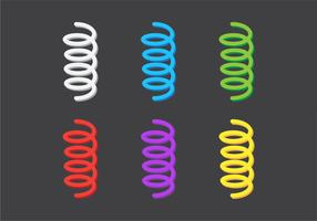 Primavera de bobina de vetor colorido