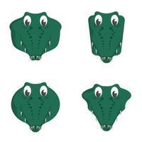 conjunto de crocodilos de desenhos animados.