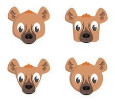 conjunto de hienas de desenho animado.