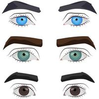 conjunto de olhos masculinos.