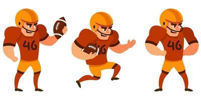 jogador de futebol americano em diferentes poses.