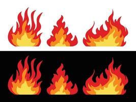chamas de fogo, desenho vetorial, ícone vetor