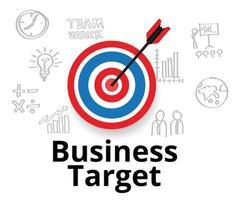 flecha acertando o alvo, alvo de negócios vetor