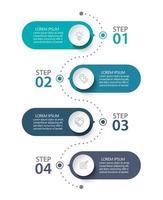 modelo de conexão infográfico moderno com 4 opções