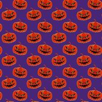 padrão de halloween 04 vetor