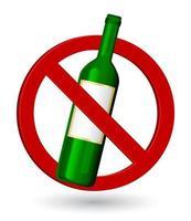 garrafa de vinho sinal de parada vetor