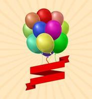 cartão de balão de ar
