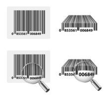 código de barras com zoom vetor