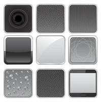 ícone de botão de metal