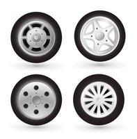 ícone de roda de carro vetor