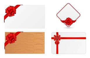 cartão com laço vermelho vetor