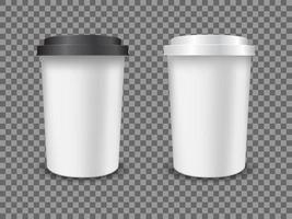copo de plástico de café vetor