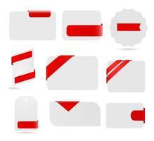 conjunto de cartão de papel vetor