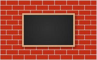quadro de avisos na parede de tijolos vetor