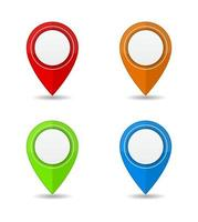pin mapa de localização marcador de ícone 3d definido