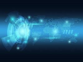 fundo de tecnologia futurista abstrato azul