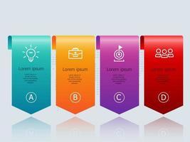 infográficos abstratos de banner horizontal com ícones de negócios para negócios e apresentação