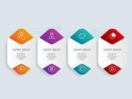 infográficos abstratos de banner horizontal com ícones de finanças domésticas