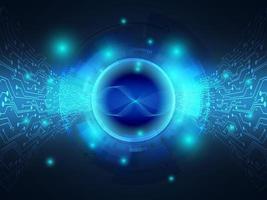 transferência de dados de fundo de tecnologia azul abstrato com circuito vetor
