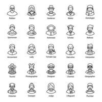 avatares profissionais e de negócios vetor