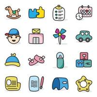 brinquedos e acessórios infantis online vetor